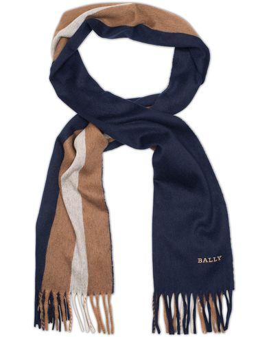 Bally Diagonal Stripe Scarf Blue  i gruppen Accessoarer / Halsdukar hos Care of Carl (13119210)