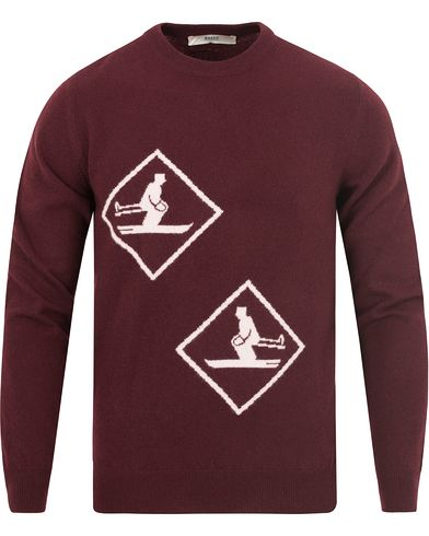 Bally Wool/Cashmere Ski Sweater Merlot i gruppen Tröjor / Stickade tröjor hos Care of Carl (13119311r)