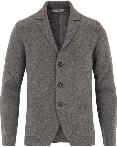 Bally Knitted Cardigan Grey Melange i gruppen Gensere / Cardigans hos Care of Carl (13119411r)