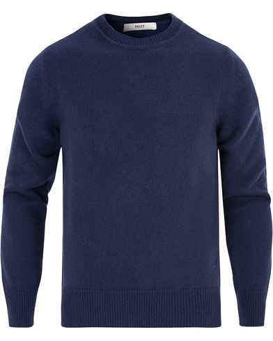Bally Wool Knit Sweater Ink Blue i gruppen Gensere / Pullover / Pullovere rund hals hos Care of Carl (13119611r)