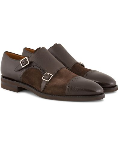 Bally Skobler Monkstrap Coffee Brown i gruppen Sko / Munkesko hos Care of Carl (13120111r)