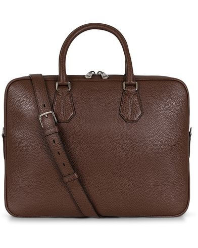 Bally Staz Briefcase Dark Tan  i gruppen Väskor / Portföljer hos Care of Carl (13120310)