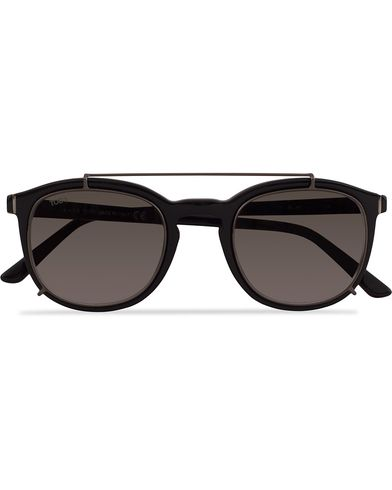Tod's TO0181 Acetate Clip On Sunglasses Black  i gruppen Solbriller / Runde solbriller hos Care of Carl (13121010)