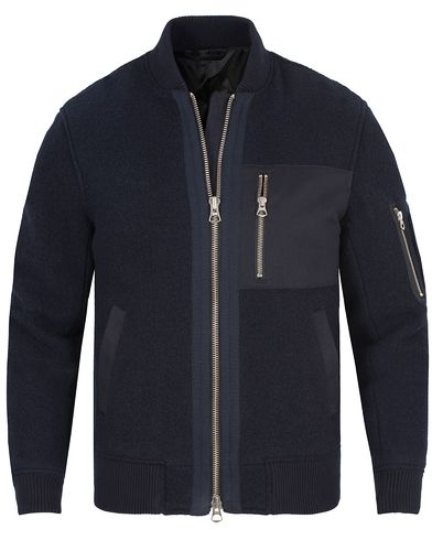 Gant Rugger The Woolly Bomber Jacket Navy i gruppen Jackor / Bomberjackor hos Care of Carl (13121311r)