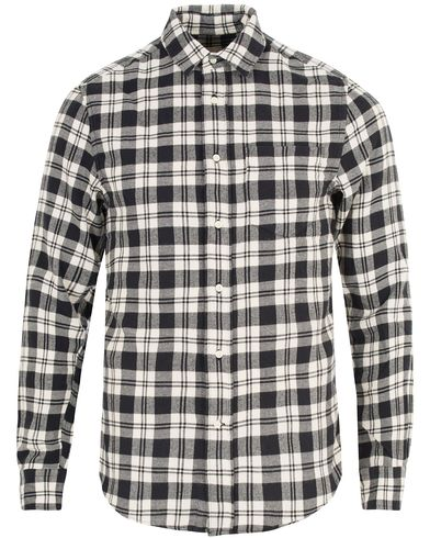 Gant Rugger Brooklyn Check Flannel Hugger Fit Shirt Black i gruppen Klær / Skjorter / Flanellskjorter hos Care of Carl (13122411r)