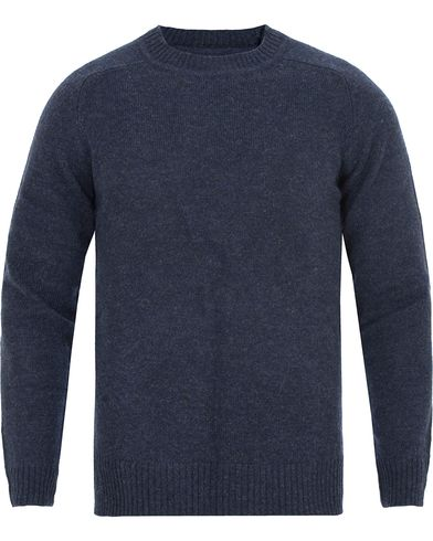 Gant Rugger The Shetland Sweater Marine Melange i gruppen Gensere / Strikkede gensere hos Care of Carl (13122811r)