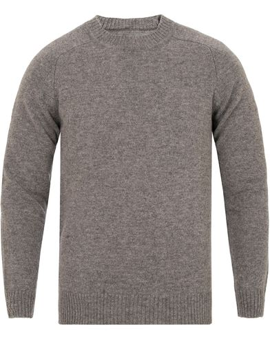 Gant Rugger The Shetland Sweater Grey Melange i gruppen Tr�jor / Stickade Tr�jor hos Care of Carl (13122911r)