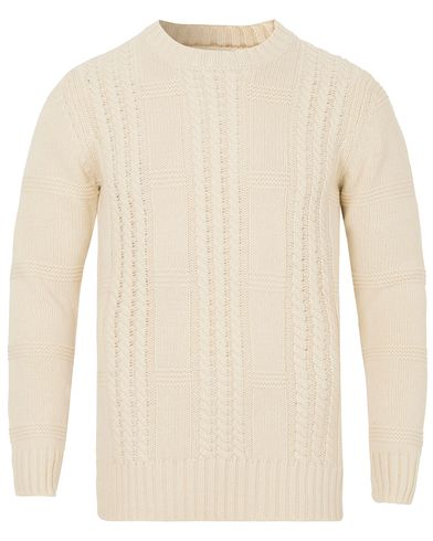 GANT Rugger The Cable Knit Cream i gruppen Klær / Gensere / Strikkede gensere hos Care of Carl (13123011r)