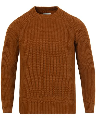 Gant Rugger Half Cardigan Knit Brown i gruppen Gensere / Strikkede gensere hos Care of Carl (13123311r)