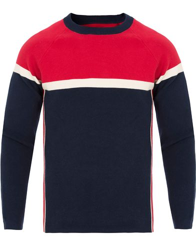 Gant Rugger The Sidestripe Sweater Evening Blue i gruppen Gensere / Strikkede gensere hos Care of Carl (13123511r)