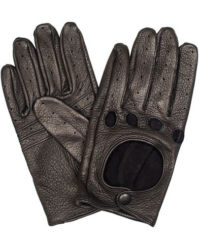 Gant Rugger Car Leather Glove Black i gruppen Accessoarer / Handskar hos Care of Carl (13124111r)