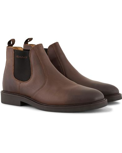 GANT Spencer Chelsea Boot Calf Dark Brown i gruppen Sko / Støvler / Chelsea boots hos Care of Carl (13125111r)