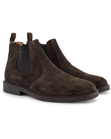 GANT Spencer Chelsea Boot Dark Brown Suede i gruppen Sko / Støvler / Chelsea boots hos Care of Carl (13125311r)