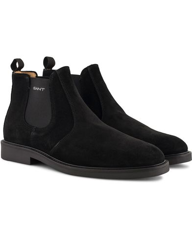 GANT Spencer Chelsea Boot Black Suede i gruppen Skor / Kängor / Chelsea boots hos Care of Carl (13125411r)