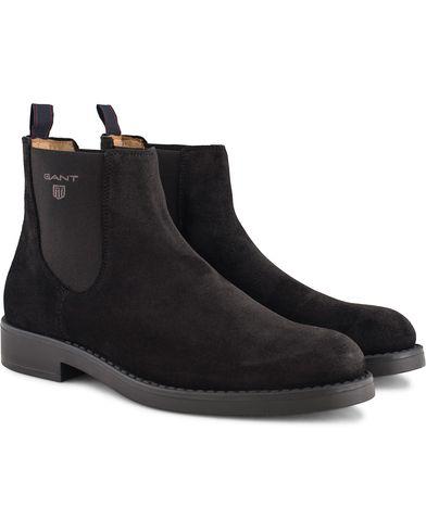 GANT Oscar Chelsea Boot Black Suede i gruppen Sko / Støvler / Chelsea boots hos Care of Carl (13125511r)