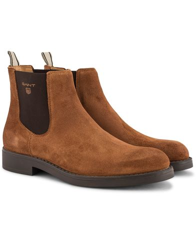 GANT Oscar Chelsea Boot Cognac Suede i gruppen Skor / Kängor / Chelsea boots hos Care of Carl (13125611r)