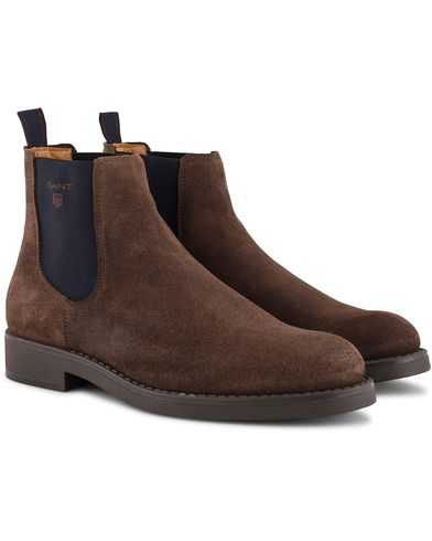 Gant Oscar Chelsea Boot Dark Brown Suede i gruppen Skor / Kängor / Chelsea boots hos Care of Carl (13125711r)