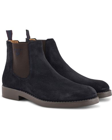 Gant Oscar Chelsea Boot Navy Suede i gruppen Skor / Kängor / Chelsea boots hos Care of Carl (13125811r)