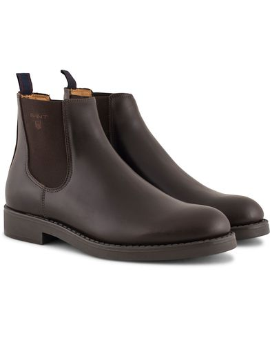 GANT Oscar Chelsea Boot Calf Dark Brown i gruppen Skor / Kängor / Chelsea boots hos Care of Carl (13126111r)