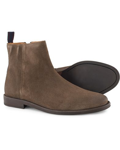 GANT Max Zip Chelsea Boot Iron Grey Suede i gruppen Skor / Kängor / Chelsea boots hos Care of Carl (13126311r)