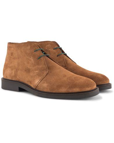 Gant Spencer Chukka Boot Cognac Suede i gruppen Sko / Støvler / Chukka boots hos Care of Carl (13126511r)