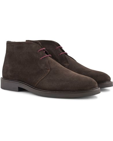 Gant Spencer Chukka Boot Dark Brown Suede i gruppen Skor / K�ngor / Chukka boots hos Care of Carl (13126611r)