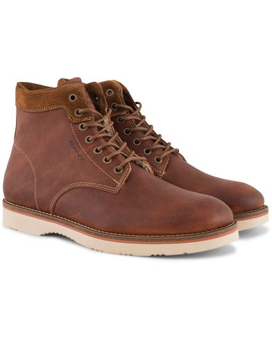 Gant Huck Boot Cognac Leather i gruppen Skor / Kängor / Snörkängor hos Care of Carl (13126811r)