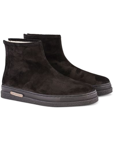 Gant Josef Curling Boot Black Suede i gruppen Skor / K�ngor / Curlingk�ngor hos Care of Carl (13126911r)