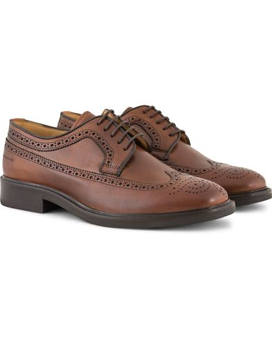 Gant Albert Brogue Derby Cognac Leather i gruppen Design A / Sko / Brogues hos Care of Carl (13127311r)
