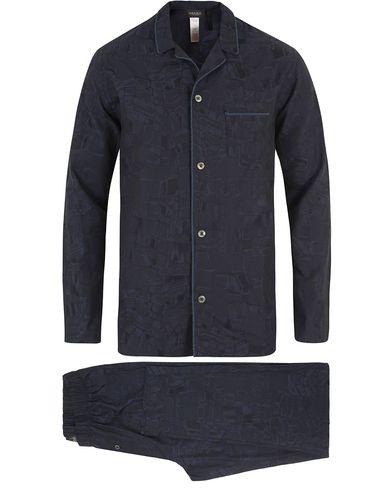 Hanro Raffael Pyjama Jacquard Print i gruppen Underkläder / Pyjamas / Pyjamasset hos Care of Carl (13127611r)