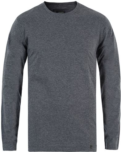 Hanro Night & Day Sweater Enigma Grey Melange i gruppen Undertøy / Pyjamaser / Pyjamasgensere hos Care of Carl (13127911r)