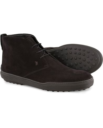 Tod's Polacco Mid Sneaker Black Suede i gruppen Skor / Kängor / Chukka boots hos Care of Carl (13128111r)