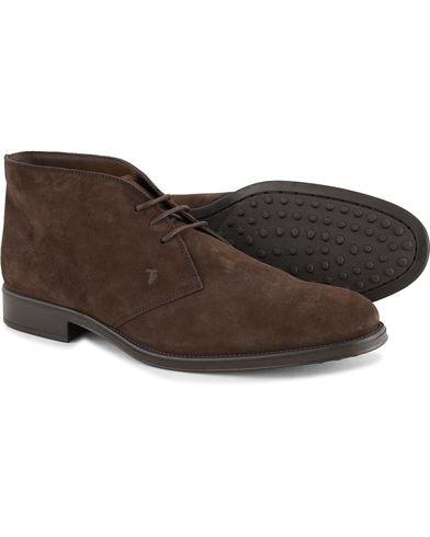 Tod's Polacco RQ Chukka Dark Brown Suede i gruppen Skor / Kängor / Chukka boots hos Care of Carl (13128411r)