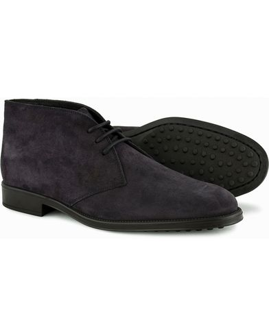 Tod's Polacco RQ Chukka Blue Denim Suede i gruppen Sko / Støvler / Chukka boots hos Care of Carl (13128511r)