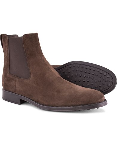 Tod's Trenchetto Chelsea Boot Dark Brown Suede i gruppen Sko / St�vler / Chelsea boots hos Care of Carl (13128811r)