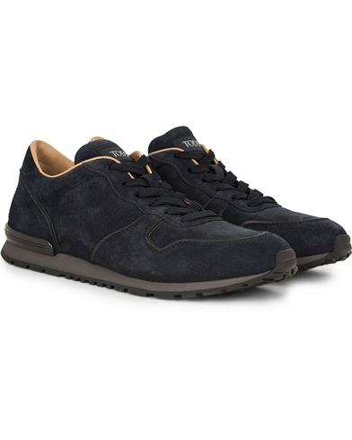 Tod's Sportivo Running Sneaker Dark Blue Suede i gruppen Design A / Sko / Sneakers / Running sneakers hos Care of Carl (13128911r)