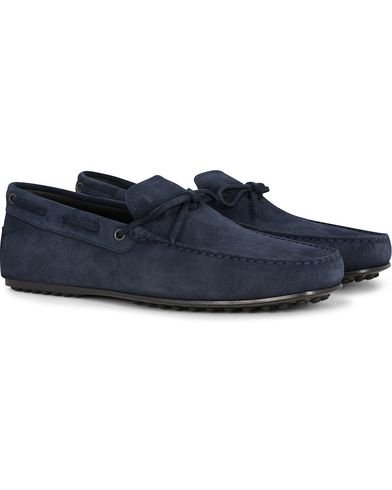 Tod's Laccetto City Carshoe Navy Suede i gruppen Sko / Bilsko hos Care of Carl (13129511r)