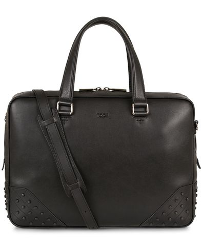 Tod's Porta Gommino Medium Briefcase Black Leather  i gruppen Assesoarer hos Care of Carl (13129910)