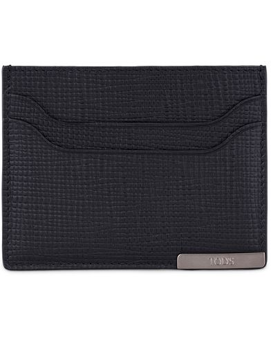 Tod's Barretta Metallo Credit Card Case Black Leather  i gruppen Accessoarer / Plånböcker / Korthållare hos Care of Carl (13130110)