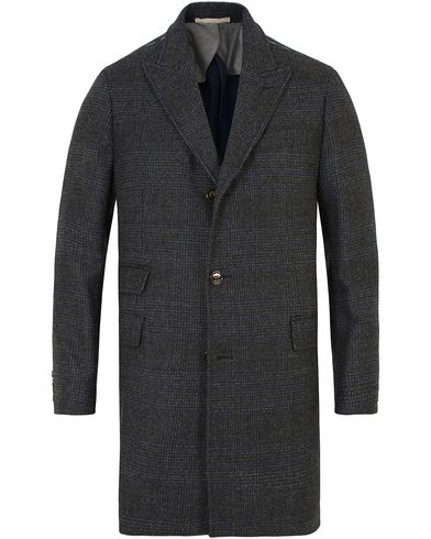 Hackett Double Face Check Wool Coat Charcoal i gruppen Klær / Jakker / Vinterjakker hos Care of Carl (13130711r)