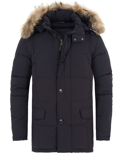 Hackett Down Stretch Parka Navy i gruppen Jackor / Parkas hos Care of Carl (13130911r)