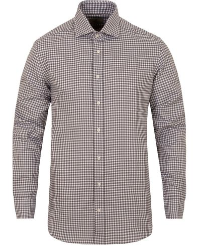Hackett Mayfair Soft Check Slim Fit Shirt Grey i gruppen Skjorter / Businesskjorter hos Care of Carl (13131111r)
