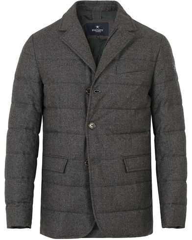 Hackett Wool Down Blazer Jacket Grey i gruppen Design A / Jakker / Vatterte jakker hos Care of Carl (13131511r)