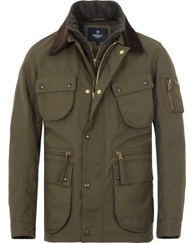 Hackett Cadwell Waxed Jacket Olive i gruppen Design A / Jakker / Voksede jakker hos Care of Carl (13131911r)