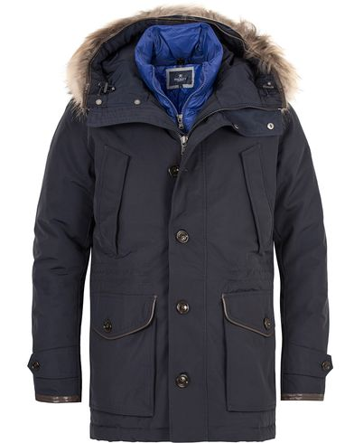 Hackett The Expedition Parka Navy i gruppen Kläder / Jackor / Parkas hos Care of Carl (13132011r)