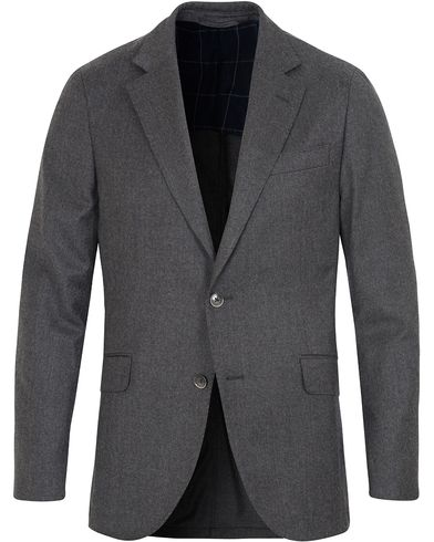 Hackett Plain Flannel Jacket Grey i gruppen Kavajer / Enkelknäppta kavajer hos Care of Carl (13132211r)