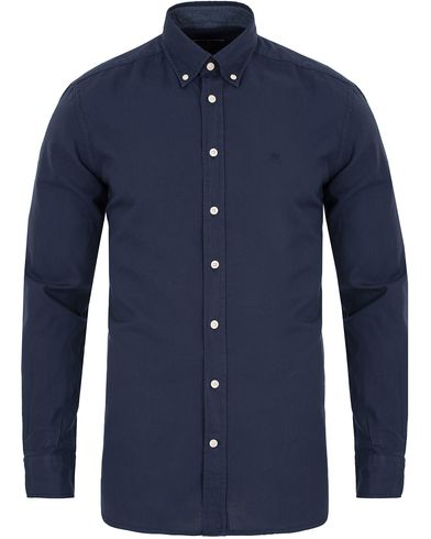 Hackett Garment Dyed Oxford Slim Fit Shirt Dark Blue i gruppen Kläder / Skjortor / Oxfordskjortor hos Care of Carl (13133411r)