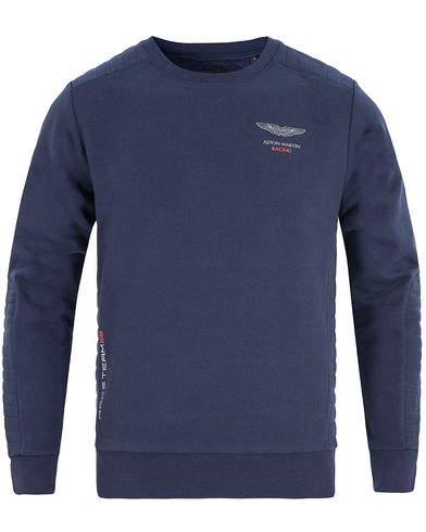 Hackett AMR Crew Sweat Navy i gruppen Design A / Gensere / Sweatshirts hos Care of Carl (13133611r)