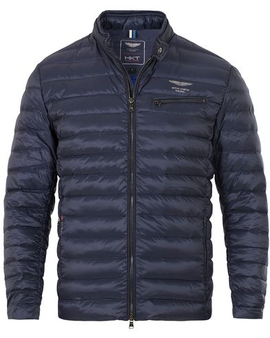 Hackett AMR Down Moto Jacket Navy i gruppen Kläder / Jackor / Tunna jackor hos Care of Carl (13133911r)