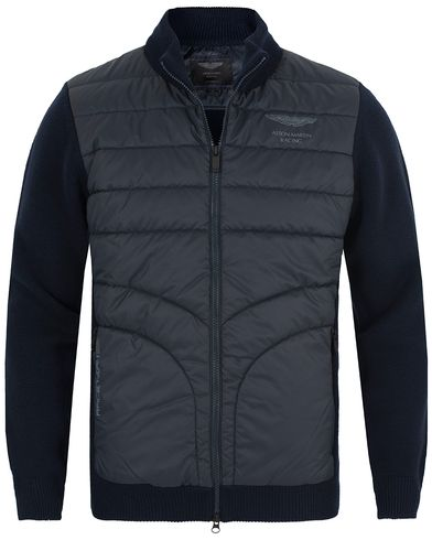 Hackett AMR Padded Front Zip Midnight i gruppen Kläder / Tröjor / Zip-tröjor hos Care of Carl (13134011r)